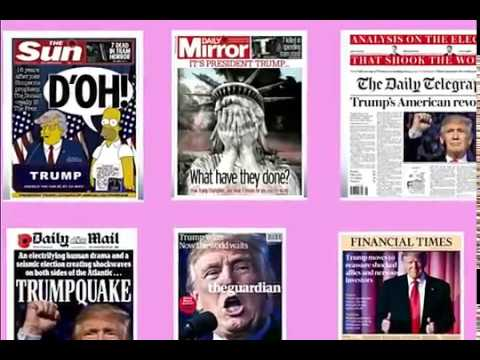 Trump wins UK press front pages, British newspaper headlines