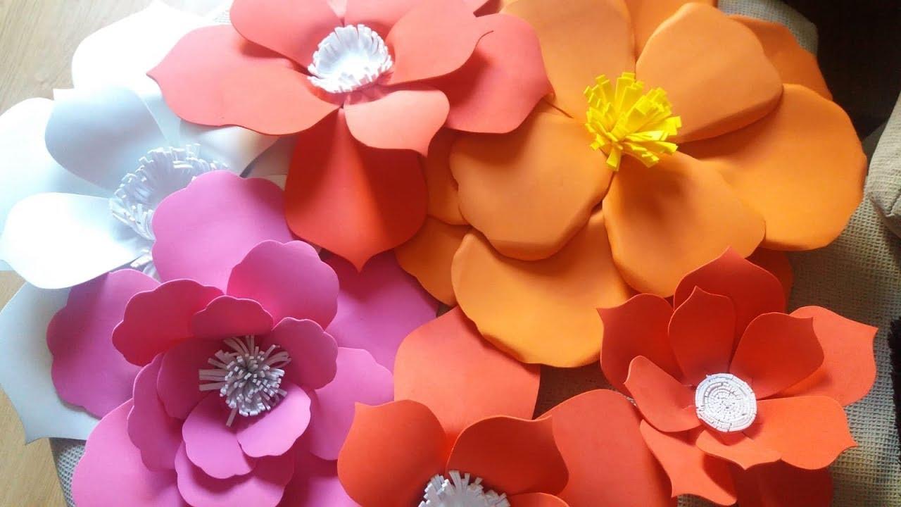 Facil Elaboracion De Flores Gigantes En Goma Eva O Foamy Youtube