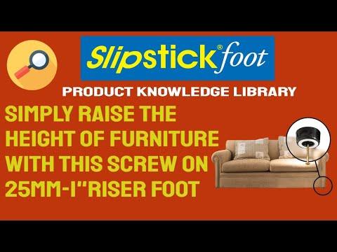 How To Fit Slipstick CB511 Riser Foot Furniture Gripper U0026 Floor Protector