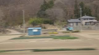 屋代~千曲駅、しなの鉄道線、進行方向左側車窓から