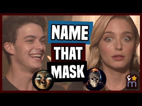 HAPPY DEATH DAY Cast Plays Name That Horror Movie Mask  Israel Broussard, Jessica Rothe