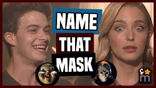 HAPPY DEATH DAY Cast Plays Name That Horror Movie Mask - Israel Broussard, Jessica Rothe | Interview