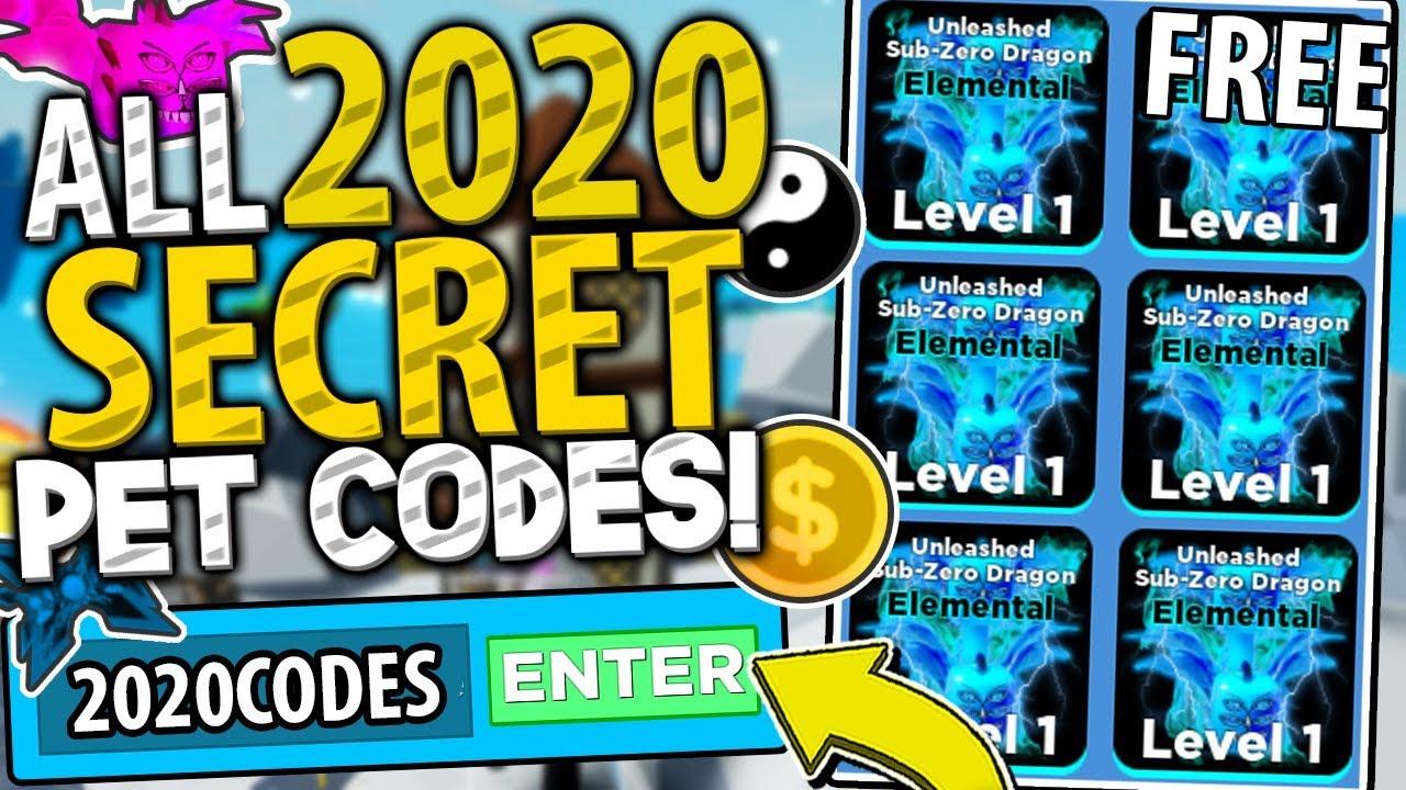 All 20 Secret 2020 Pet Codes In Ninja Legends Free Max Pets