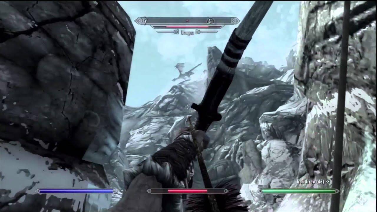 The Elder Scrolls V: Skyrim - Mount Anthor Dragon - Ice Form Shout ...