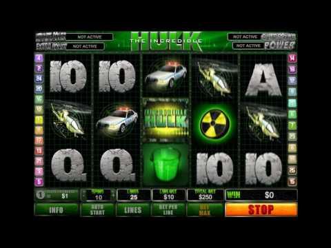 Виднообзор онлайн слота The Incredible Hulk