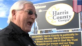 Politically incorrect: Georgia sheriff upsets folk with patriotic, un-PC 'welcome' sign - TomoNews