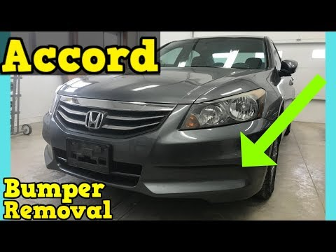 2011 2012 Honda Accord Front Bumper Removal How to Remove Replace Install Sedan 4 door