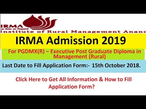 IRMA Admission 2019 Process for PGDMX(R) Apply Online by 15th Oct. Mp3