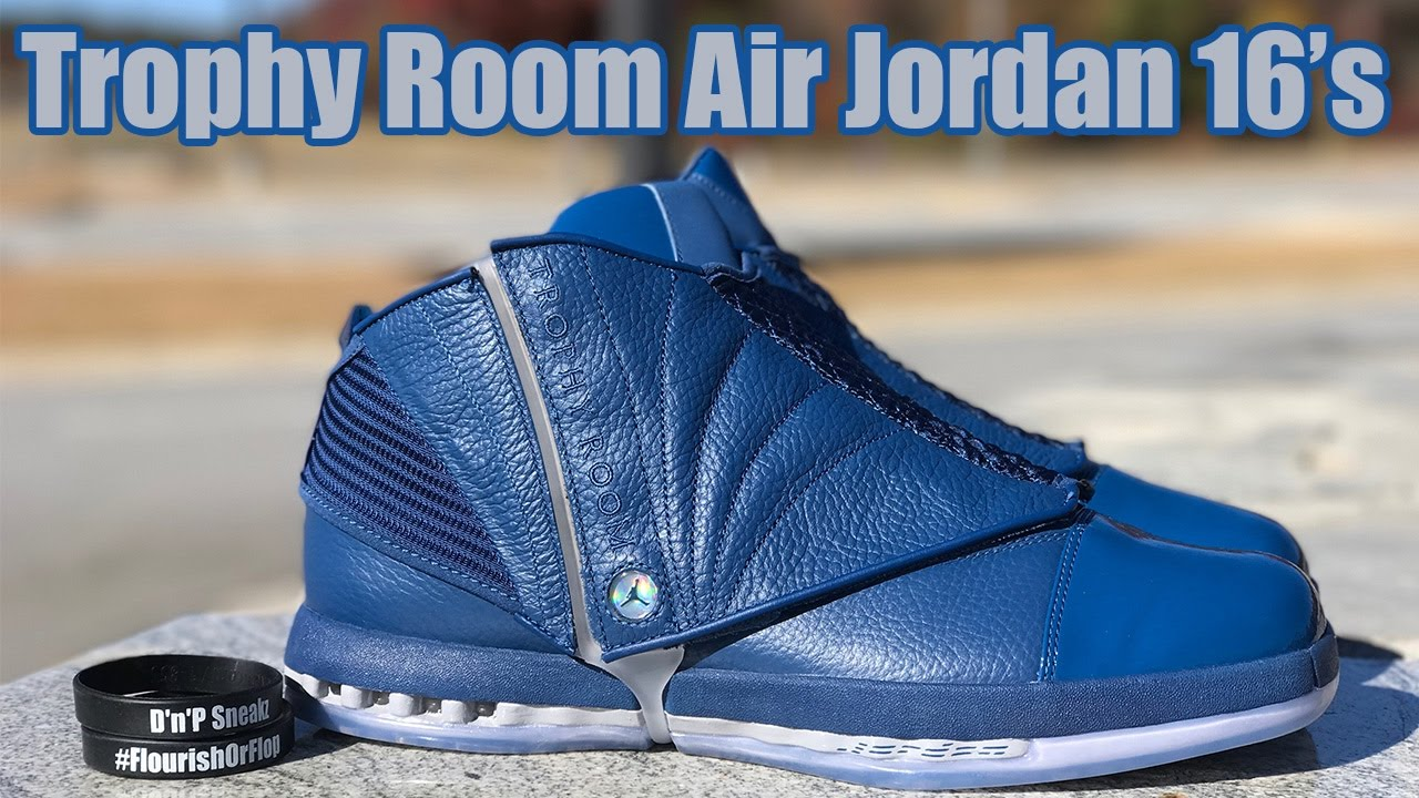 c7b53d209cb6 Trophy Room Air Jordan 16 s Review - YouTube