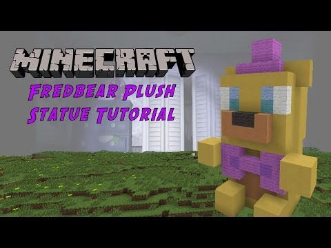 Minecraft Tutorial: Fredbear Plush (Five Night's At Freddy's) Statue