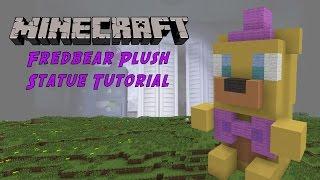 Minecraft Tutorial: Fredbear Plush (Five Night's At Freddy's) Statue