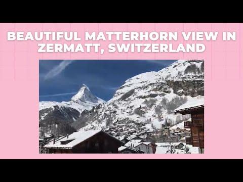 Beautiful Matterhorn View In Zermatt, Switzerland