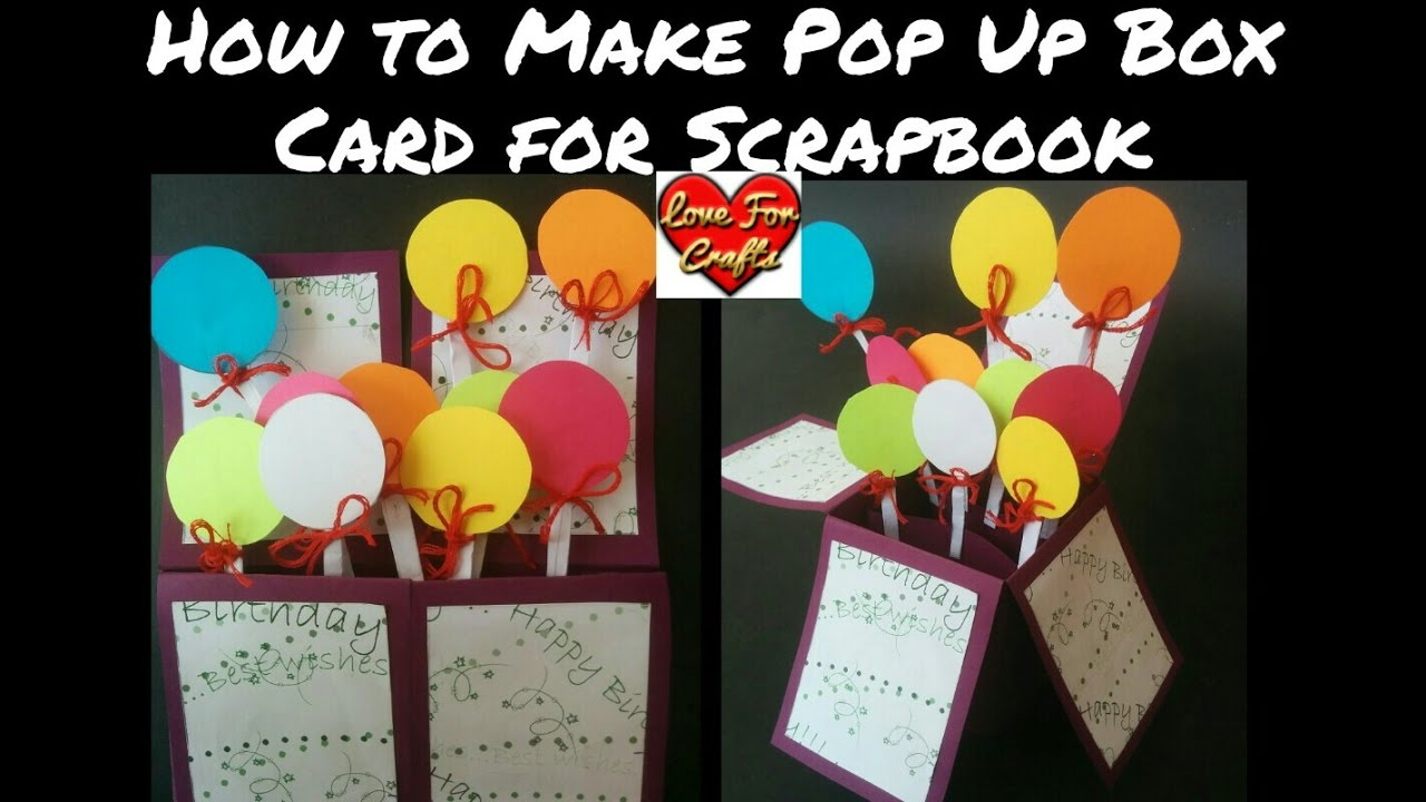 How to make scrapbook box - How To Make Pop Up Box Card For Scrapbook Diy Pop Up Box Card Tutorial