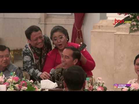 Begini Kala Jokowi dan JK Berkokok Menirukan Suara Ayam