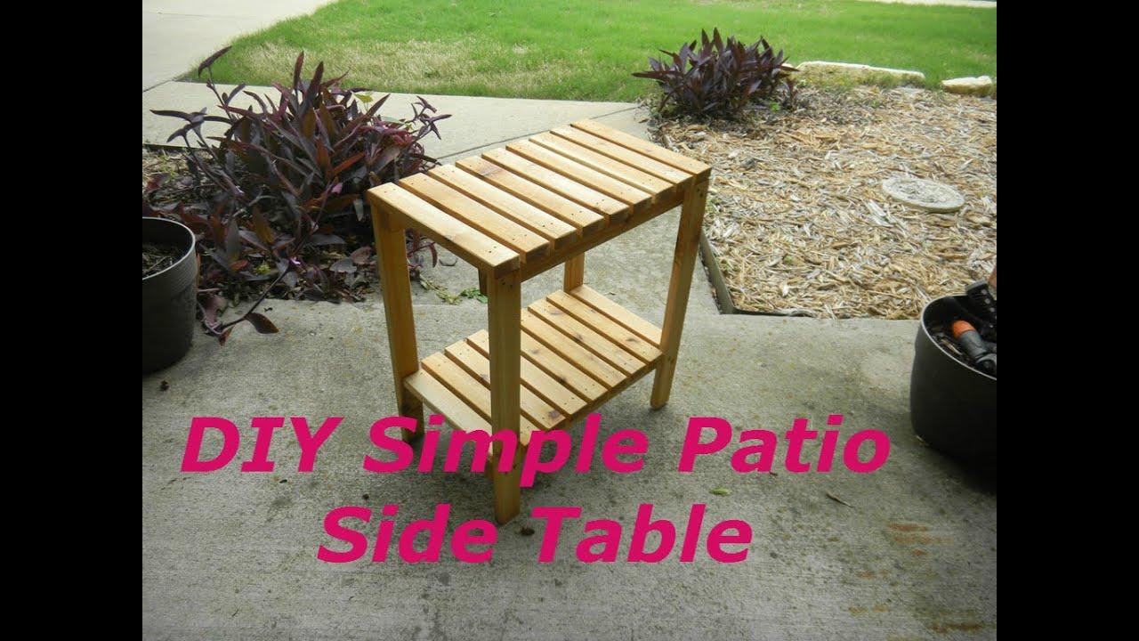 Simple Cedar Patio Side Table
