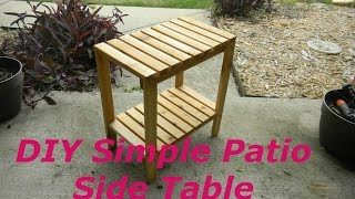 How To Make a SImple Cedar Patio Side Table