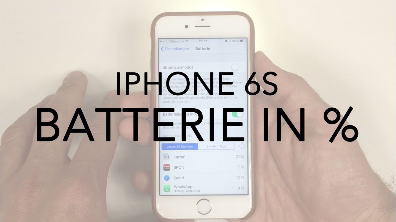 Iphone 11 batterie prozent