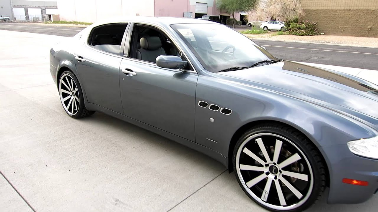 2006 maserati quattroporte sport gt 22inch gianelle wheels custom exhaust for sale joey 480 205. Black Bedroom Furniture Sets. Home Design Ideas