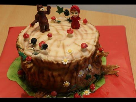 Рецепт - Создания торта Маша и Медведь от videokulinaria.ru