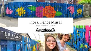 Floral Fence Mural - Amadoodle