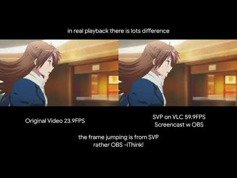 60FPS Anime With SVP On Linux And VLC - Demo Comparison (failed!)