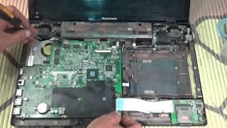 lenovo IdeaPad Z580 не работает кулер вентилятор разборка замена термопасты
