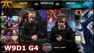 Fnatic (w/ Rekkles) vs ROCCAT | Week 9 Day 1 S8 EU LCS Summer 2018 | FNC vs ROC W9D1