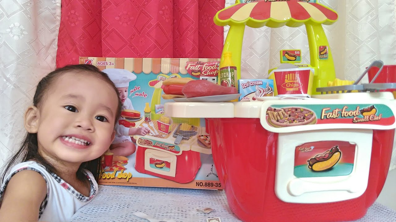 Mini Fast Food Shop Playset for Girls Kitchen Educational Toys