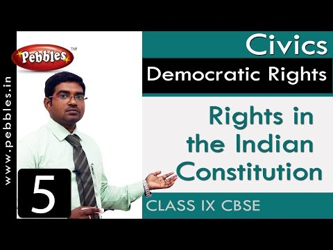 Rights in the Indian Constitution : Democratic Rights | Social Science | Class 9 CBSE Syllabus