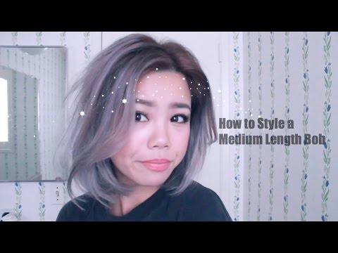 How to Style a One Length Bob with a Flat Iron