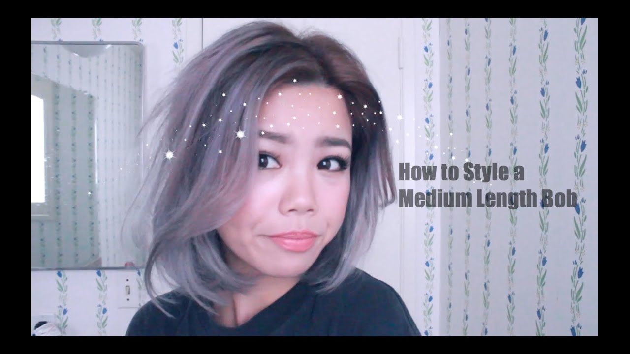 How to style a one length bob with a flat iron youtube urmus Choice Image