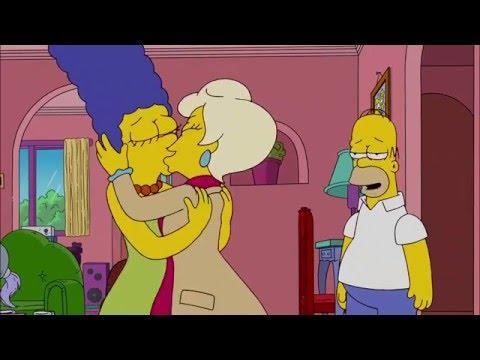 Marge se besa con una mujer