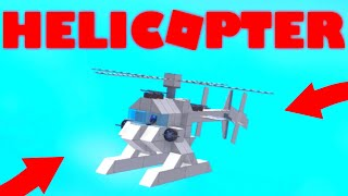 Comment construire un HELICOPTER (Roblox Plane Crazy)