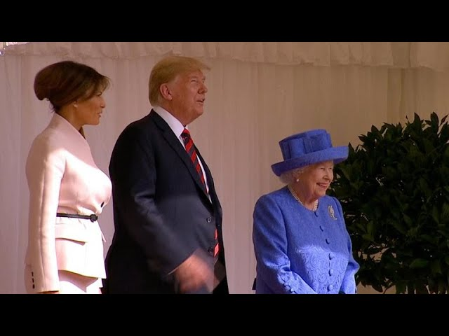 President Trump meets with Queen Elizabeth