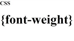 CSS how to: font weight