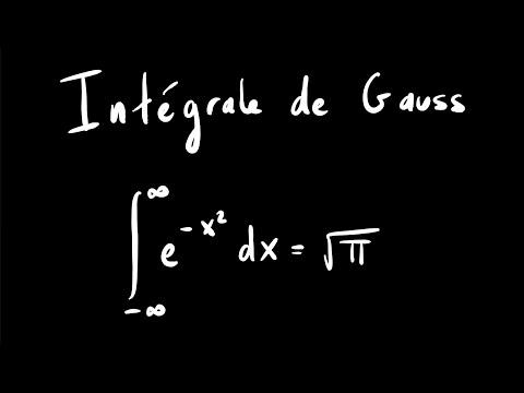 Intégrale De Gauss - Calcul Simple Par Intégrales Doubles