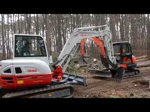 Kubota KX057 4 VS Takeuchi TB260 Mini Excavator Show Down