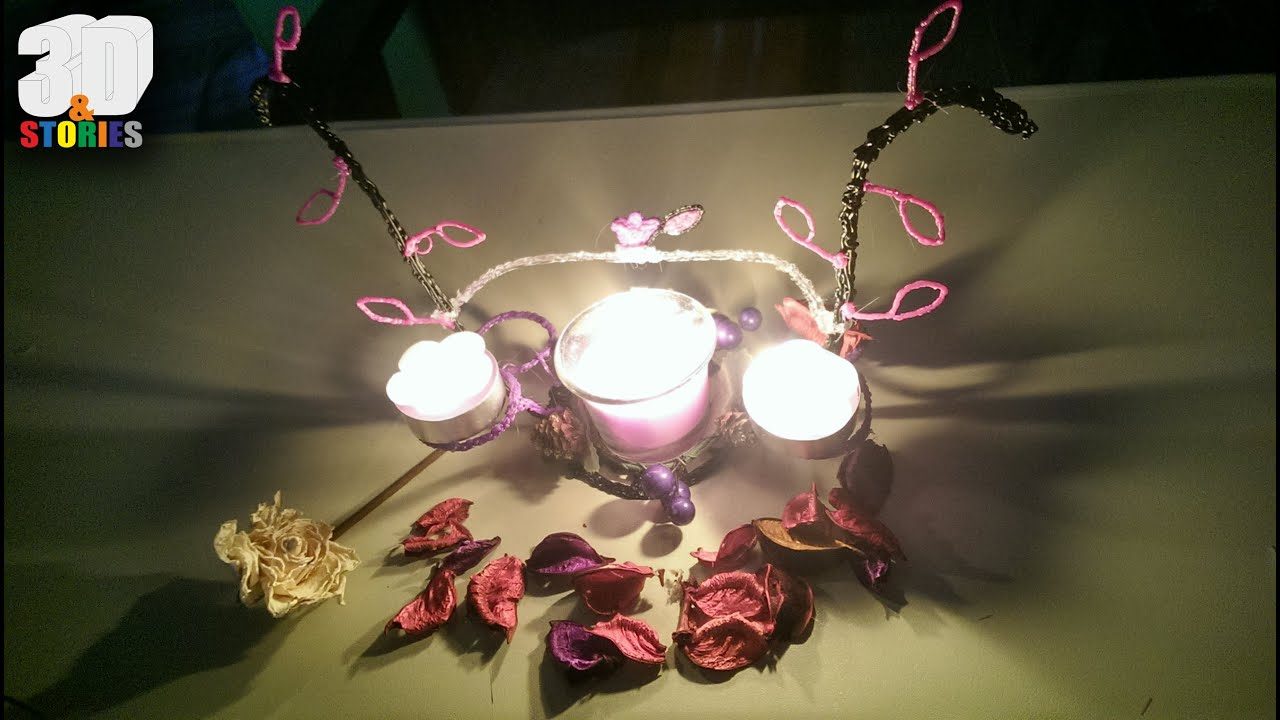 3d Design Home Decor Candle Holder With 3d Pen Youtube
