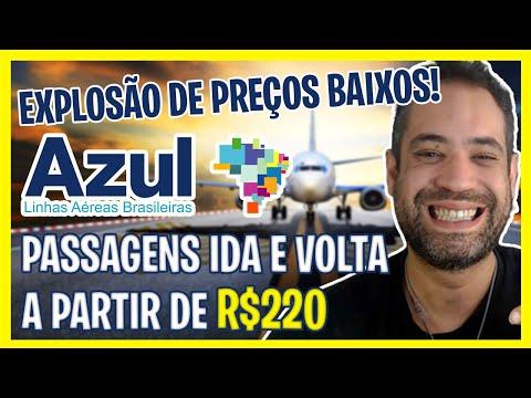 EXPLOSÃO DE PREÇOS BAIXOS AZUL! PASSAGENS AZUL A PARTIR DE R$220!