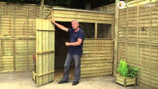 Shed-republic Overlap, Pressure Treated, Pent Sheds