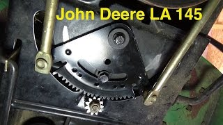 Steering Sector & Pinion Gear Replacement - John Deere LA145 Riding Mower
