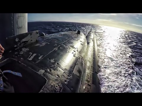 U.S. Fast Attack Submarine • Topside In The Conning Tower
