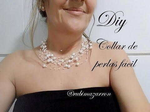 c489bec990c1 Diy. Collar de perlas para cualquier edad. - Видео с YouTube на ...