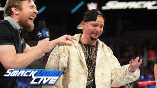 "Daniel Bryan suspends James Ellsworth during the ""Carmellabration"": SmackDown LIVE, July 4, 2017"