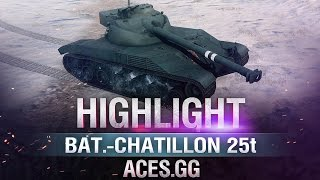 Барабанная Ярость! Bat.-Chatillon 25 t в World of Tanks!