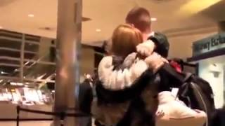 Soldier Surprises His Mom at the Airport for Christmas!