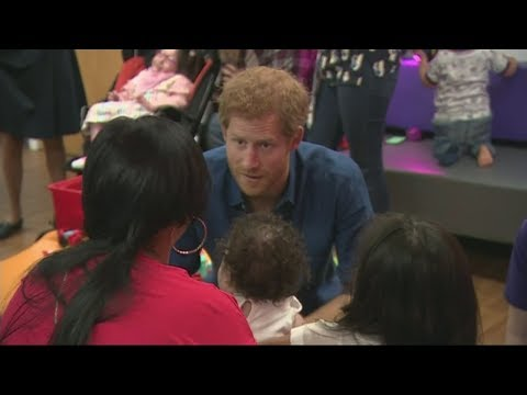 Prince Harry meets with kids and their families at Leeds Children's Hospital