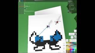 (roblox)how to build sans in pixel art