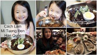Cuối Tuần Làm Mì Tương Đen Jajangmyeon ♥ Ăn Hàu Sống ♥ Vlog #2-2019  | mattalehang