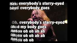 starry eyed by bridgit mendler lyrics on screen